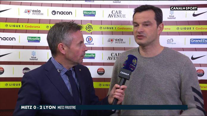 La réaction de Vincent Hognon après Metz / OL : Late Football Club