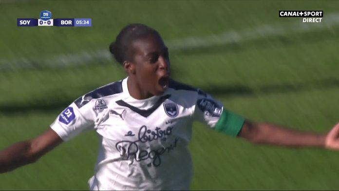 L'ouverture du score signée Viviane Asseyi : Soyaux / Bordeaux, 16ème journée