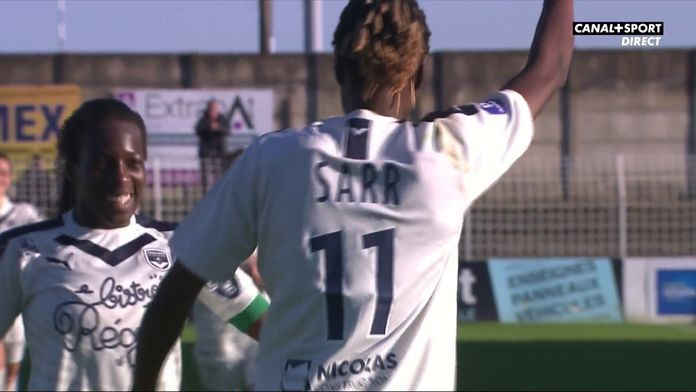 D'un lob parfait, Sarr inscrit le 3ème but bordelais : Soyaux / Bordeaux, 16ème journée