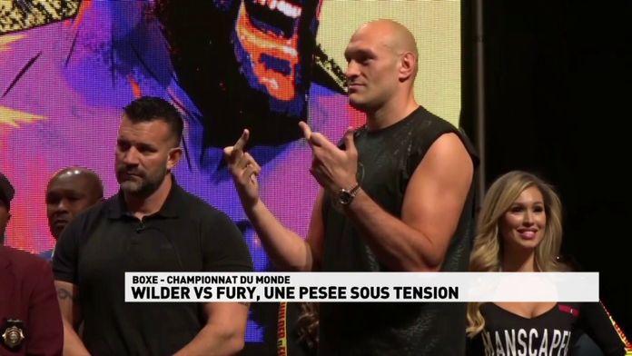 Wilder / Fury, pesée dans une ambiance électrique : Championnat du monde poids lourds WBC