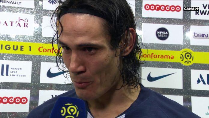 L'émotion d'Edinson Cavani après son 200ème but avec le PSG : PSG / Bordeaux