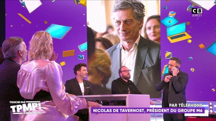 Cyril Hanouna appelle Nicolas de Tavernost en direct dans TPMP