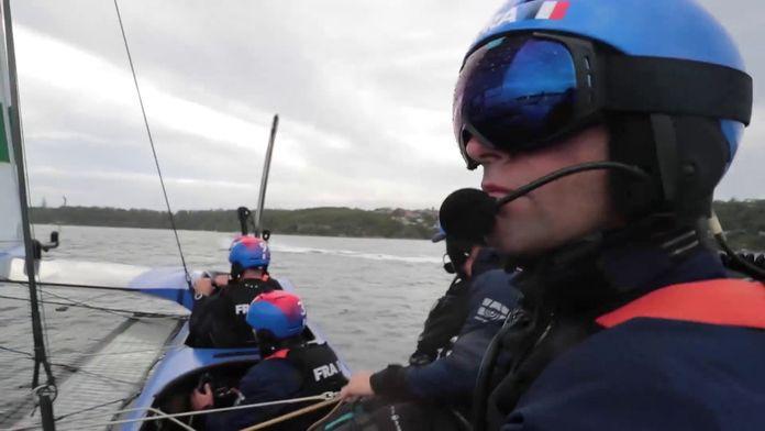 On board Team France : Sail GP 2020