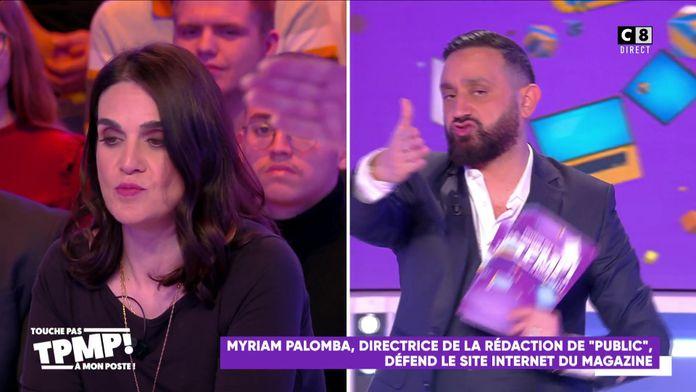 """Cyril Hanouna règle ses comptes avec Myriam Palomba au sujet du site internet """"Public.fr"""""""