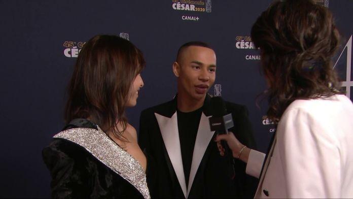 Olivier Rousteing très ému d'être sur le tapis rouge - César 2020