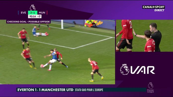 Everton / Manchester United : Le but annulé en toute fin de match : Premier League