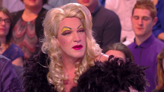 Benjamin Castaldi et Jean-Michel Maire déguisés en drag-queen