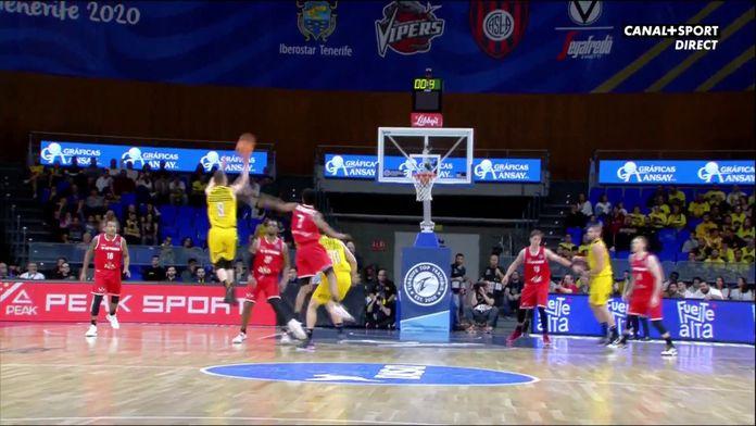 Le superbe 3 points au buzzer de Marcelinho Huertas ! : Basketball Champions League - Tenerife / Ostende