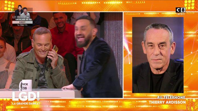 Laurent Baffie appelle Thierry Ardisson en direct avec Cyril Hanouna à ses côtés