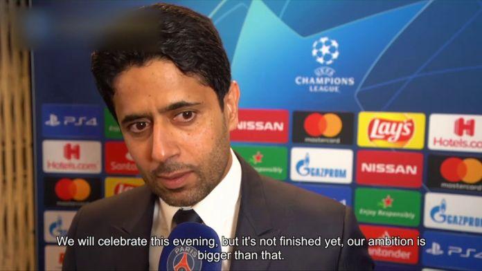 """Al Khelaïfi : """"L'ambition est plus grande"""" : Ligue des Champions"""