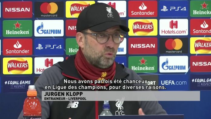 """Klopp : """"Nous avons parfois été chanceux en ligue des champions"""" : Ligue des Champions"""