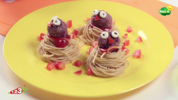 Les boulettes de spaghettis piou piou