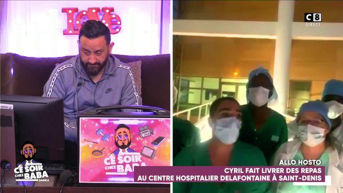 Cyril Hanouna envoie une livraison de repas au centre hospitalier de Saint-Denis !