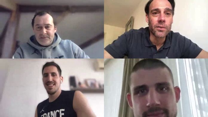 Paul Lacombe, Adrien Moerman, Christophe Denis et Ludovic Deroin évoquent le confinement : Basket et confinement