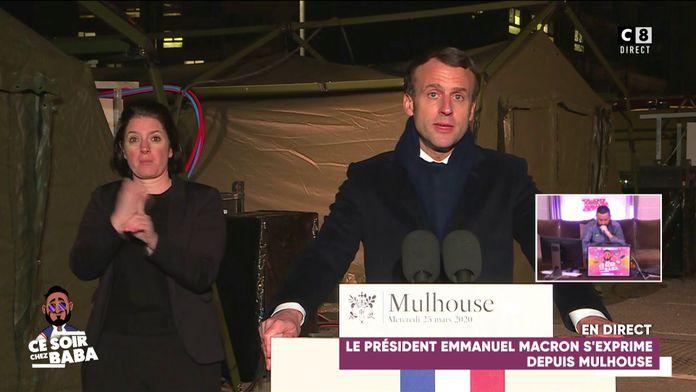 Le Président Emmanuel Macron s'exprime depuis Mulhouse