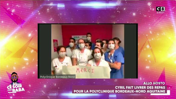 Cyril Hanouna fait livrer des repas pour la polyclinique Bordeaux-Nord Aquitaine