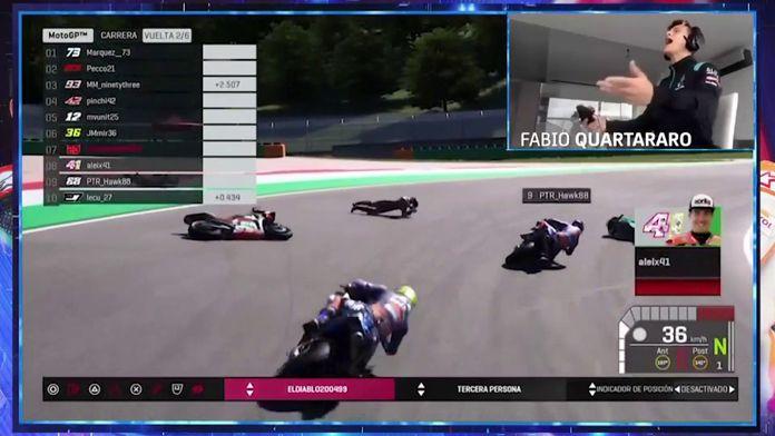 Les highlights de Quartararo au #StayAtHomeGP : MotoGP - ePrix