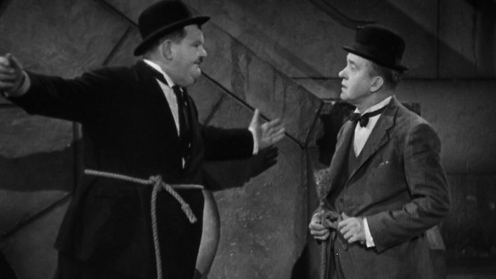 Laurel et Hardy conscrits