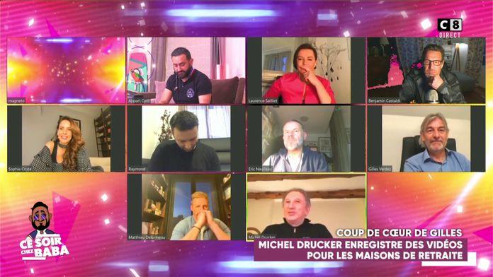 Michel Drucker enregistre de vidéos pour les maisons de retraite et fabrique des masques