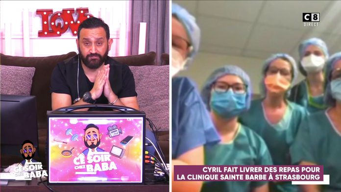 Cyril Hanouna fait livrer des repas pour la clinique Sainte Barbe à Strasbourg