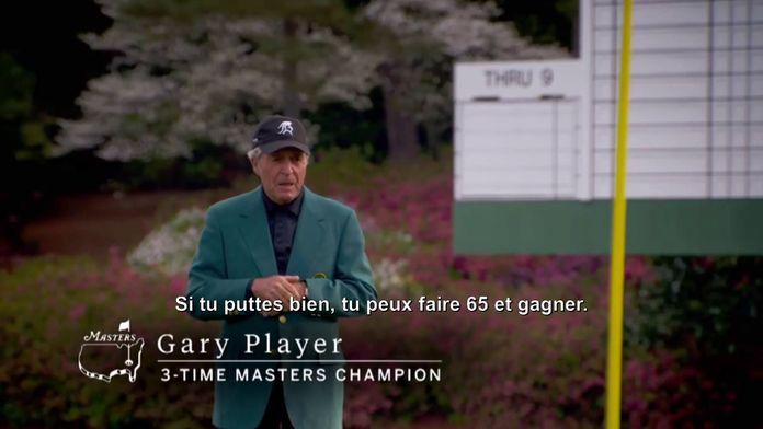Gary Player, triple vainqueur de l'épreuve : Masters Augusta