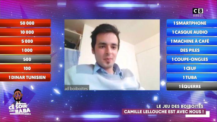 Messaoud et Camille Lellouche jouent au jeu des boiboites pour tenter de remporter 50 000 euros !