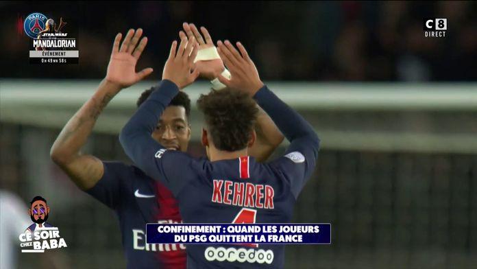 Confinement : Quand les joueurs du PSG quittent la France