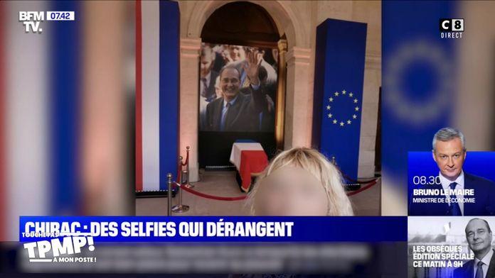 Hommage à Jacques Chirac : les selfies maladroits devant le cercueil de l'ancien Président