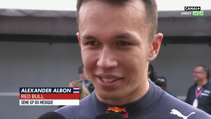 Réaction d'Alexander Albon
