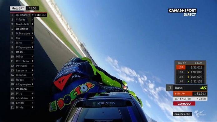 On board Valentino Rossi