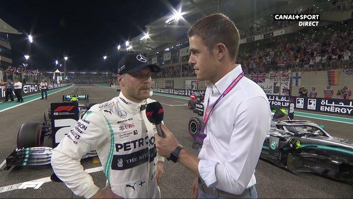 Bottas et Verstappen au micro avant le GP