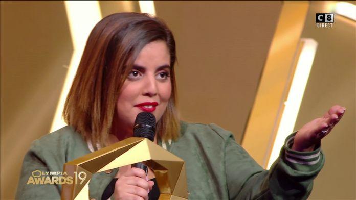 """Inès Reg récompensée lors des Olympia Awards : """"Merci d'avoir mis des paillettes dans ma vie"""""""