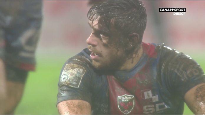 3ème essai dans la boue pour Biarritz qui s'impose