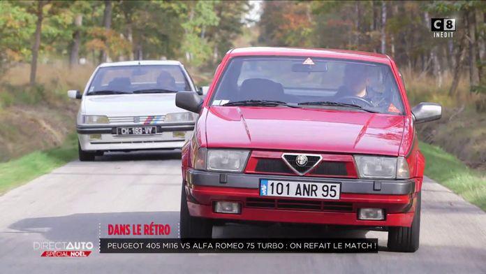 Rétro : Peugeot 405 Mi16 vs Alfa Romeo 75 Turbo