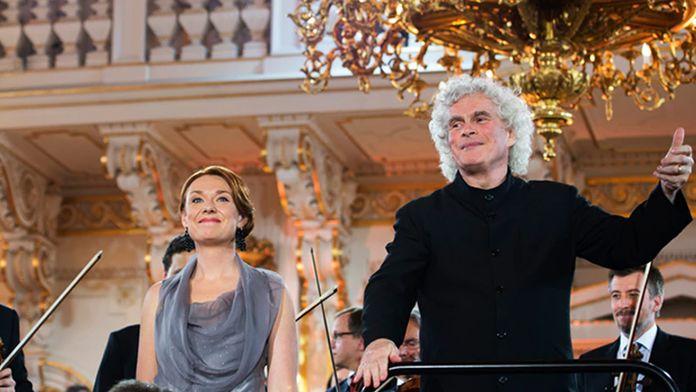 Sir Simon Rattle dirige Antonín Dvořák et Ludwig van Beethoven