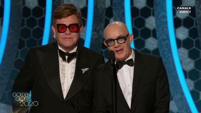 Standing ovation pour Elton John et Bernie Taupin - Golden Globes 2020
