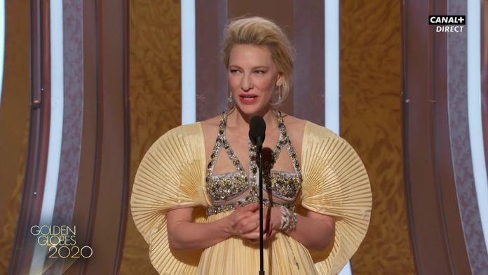 Cate Blanchett exprime son soutien à l'Australie - Golden Globes 2020