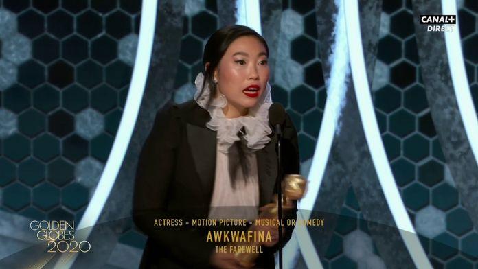 """Awkafina - Meilleure actrice dans une comédie ou film musical avec """"L'Adieu"""" - Golden Globes 2020"""