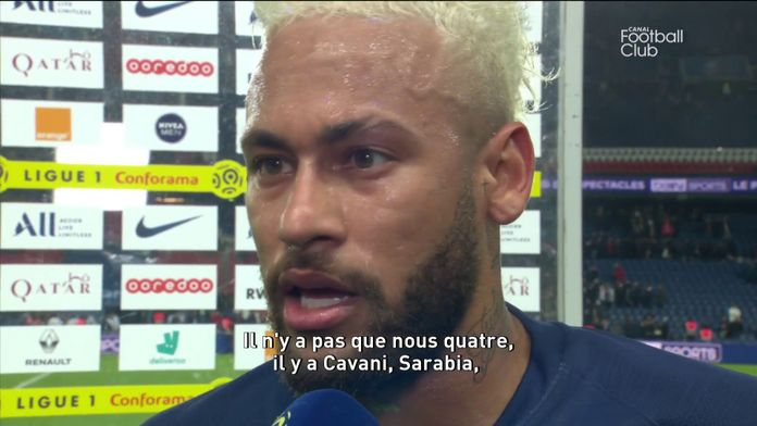 La réaction de Neymar