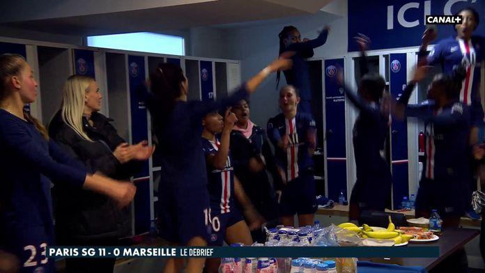 La joie des filles du PSG dans le vestiaire