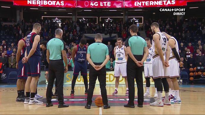 Lietkabelis / SIG : La minute de silence et l'hommage des joueurs à Kobe Bryant