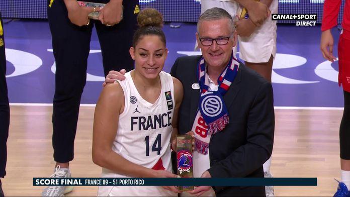 La réaction de Bria Hartley : France / Porto Rico