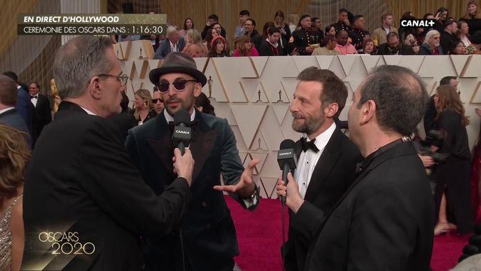 Mathieu Kassovitz et l'artiste JR sur le tapis rouge - Oscars 2020