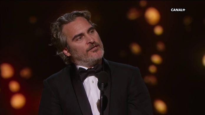 """Joaquin Phoenix : """"Une espèce, un genre ne sauraient dominer les autres"""" - Oscars 2020"""