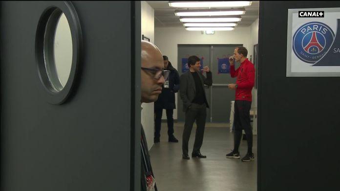 Leonardo et Thomas Tuchel en pleine discussion passionnée avant Amiens / PSG : Ligue 1 Conforama
