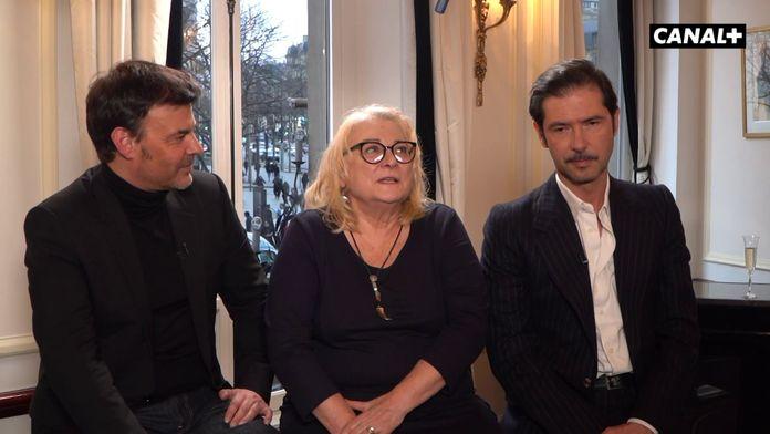 François Ozon, Josiane Balasko et Melvil Poupaud - Déjeuner des nommés- César 2020