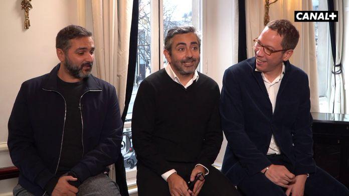 Olivier Nakache, Eric Toledano et Reda Kateb - Déjeuner des nommés - César 2020