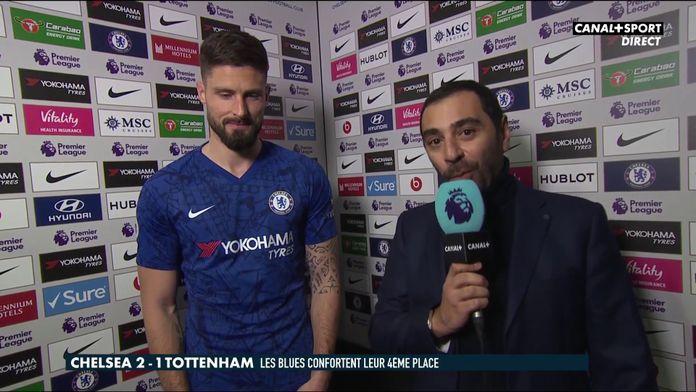Olivier Giroud se confie à CANAL+ après Chelsea / Tottenham : Premier League
