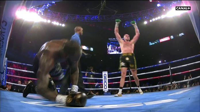 Wilder à terre dans le 3e round
