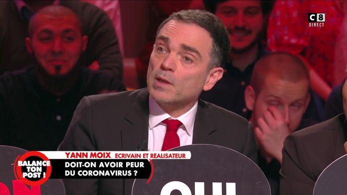 """Yann Moix au sujet du coronavirus : """"Quand je vois que l'équipage a peur, j'ai peur"""""""